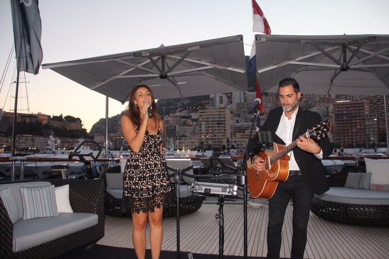 monaco singers duo, monaco, singers duo, monaco yacht show, yacht entertainment, yacht performers, singers